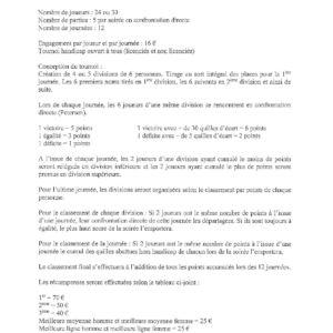 Réglement et Calendrier (2)