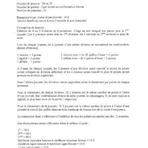 Réglement et Calendrier (3)