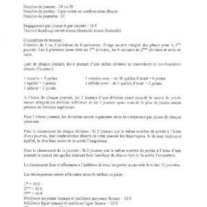 Reglement et Calendrier (2)